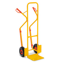 Steekwagen Ameise® met glijprofielen. Capaciteit 300 kg, steek 32x25 cm, geel.
