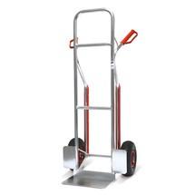 Steekwagen BASIC van aluminium. Glijprofielen, capaciteit 150kg, steek 31x21cm