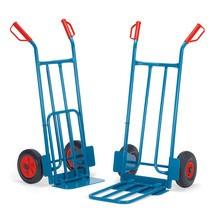 Steekwagen fetra® met vaste en klapbare steek. Capaciteit 250 kg