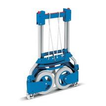 Steekwagen fetra® van aluminium. Capaciteit 125 kg, steek 32x48 cm, blauw
