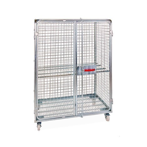 Steel anti-theft roll container