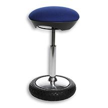 Stehhilfe für das Büro, Sitzhöhe 50-69cm, blau