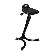 Stehhilfe - individuelle Beinfreiheit, Sitz groß, PU-Schaum