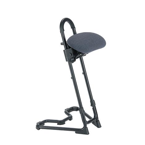 Stehhilfe mit Rollen, Sitz Stoff gepolstert