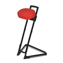Stehhilfe mit schwenkbarem Kunstledersitz