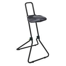 Stehhilfe mit schwenkbarem PU-Sitz