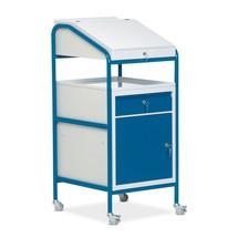 Stehpult Classic, fahrbar, Einbauschrank + Schublade