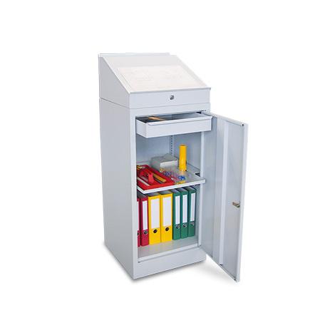 Stehpult PAVOY mit Aufsatz. 1 Ausziehboden + 1 Schublade im Schrank
