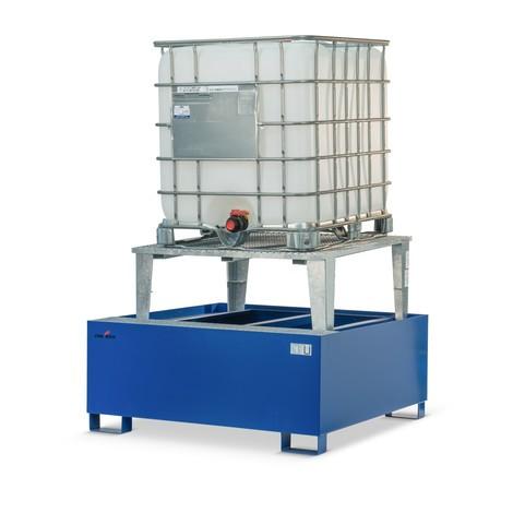 Steinbock® catch basin, steel, for KTC/IBC, truck-compatible