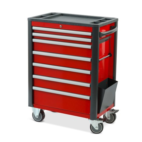 Steinbock® tool trolley, heavy-duty version, 7 drawers