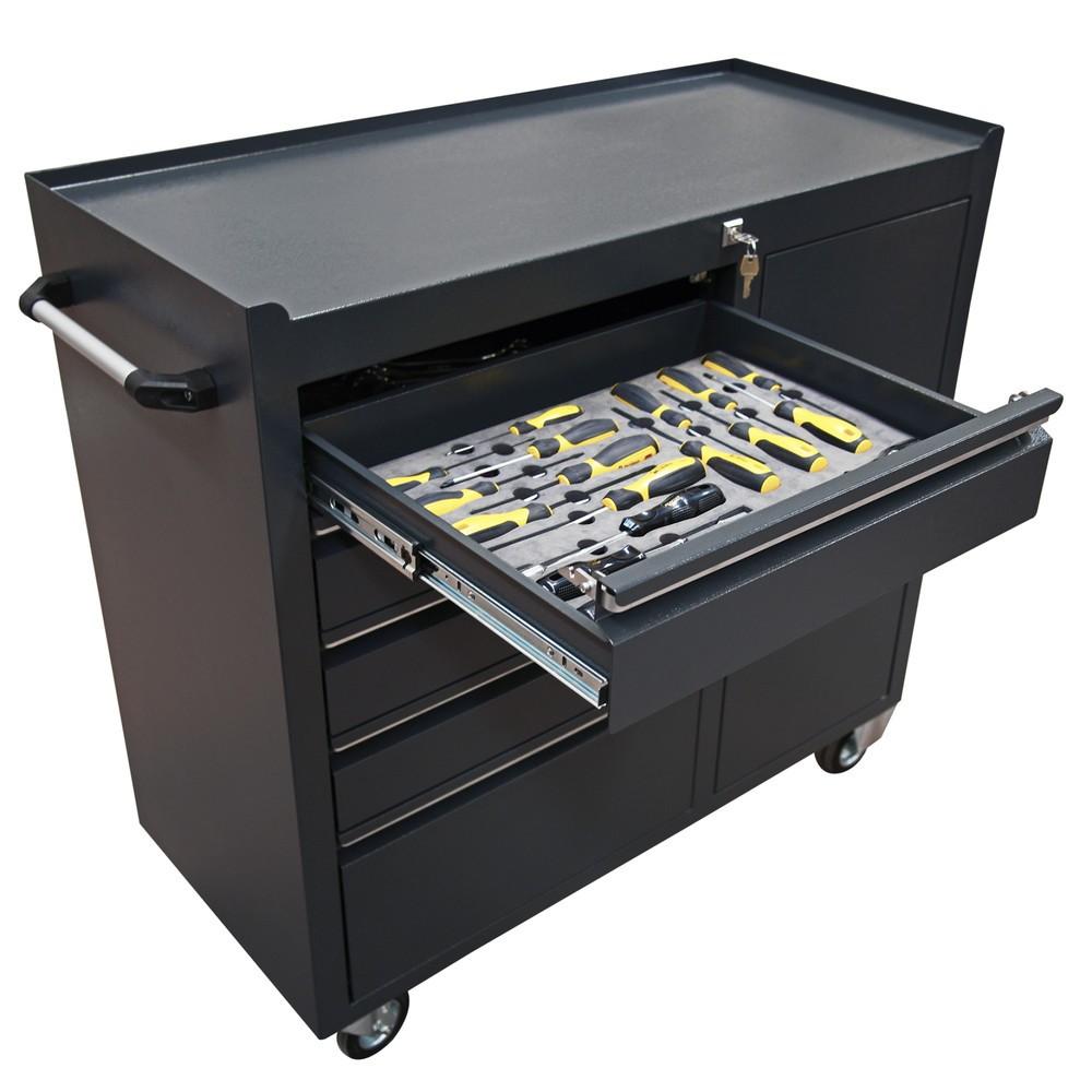 Steinbock® Werkzeugwagen, Tür + 5 Schubladen