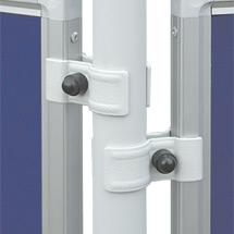 Stellwandsystem BASIC. Filztafel, blau oder grau