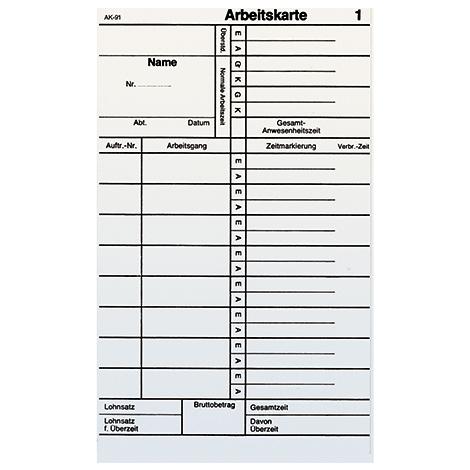 Stempelkarten für analoge Stempeluhr