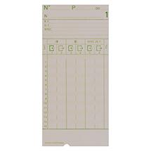Stempelkarten für Zeit- und Datumsstempler, NL