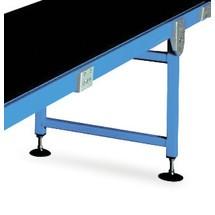 Steunen voor glijtransportband met capaciteit max. 15 kg/m bandlengte