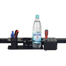 Stifte-/Werkzeug- und Flaschenhalter für Lochblech oder Querträger