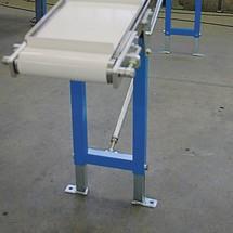 Stöd för glidande bälte transportörer med lastkapacitet max. 30 kg/m bandlängd