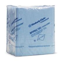 Stofdoeken WYPALL*X60, in vier gevouwen, lichtblauw of wit