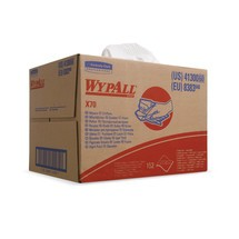 Stofdoeken WYPALL*X70, in vier gevouwen, bxl 410x380 mm, wit