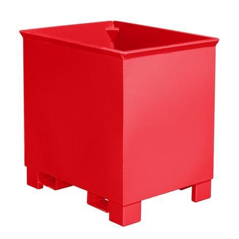 Stohovací kontejner pro trasové výtahy, lakovaný, objem 0,3 m³