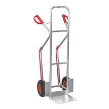 Stohovací vozík Ameise®, hliník, s klznými lyžinami