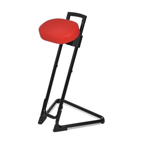 Stojaca pomôcka s otočným sedadlom z umelej kože