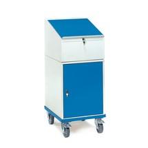 Stojací psací stůl fetra®, mobilní, s výklopnou skříň