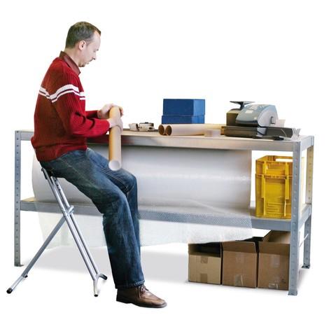 Stół roboczy META z2 półkami, udźwig 800 kg