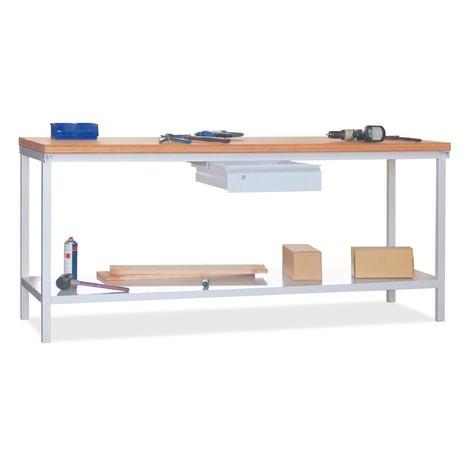 Stół warsztatowy PAVOY z 2 szufladami i półką, wys. x szer. x gł. 900 x 2000 x 700 mm