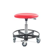 Stolička se sedadlem z umělé kůže