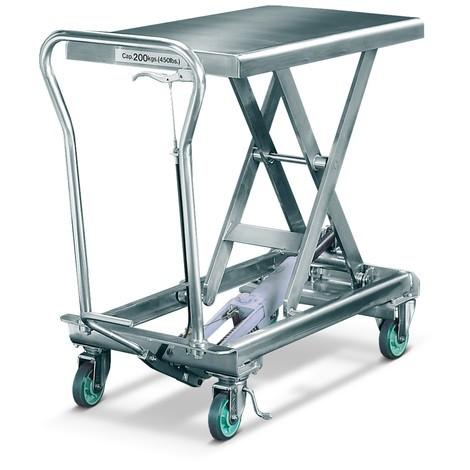 Stolové vozíky z nehrdzavejúcej ocele
