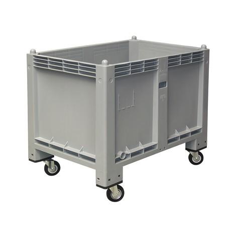 Stor beholder af polypropylen, 550 liter, med hjul