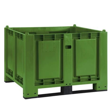 Stor beholder af polypropylen, 550 liter, med traverser