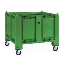 Storbehållare av polypropylen, 550 liter, med rullar
