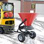 Streuwagen als Anhänger für Gabelstapler. Inhalt 260 Liter