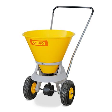 Streuwagen Premium. Für große Streuflächen. Inhalt 35 Liter. Streubreiten 1-4m