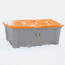 Strooizoutbak met uitschepopening, inhoud 100 - 500 l