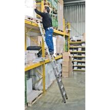 Stufen-Regalleiter KRAUSE® mit Haken für Rundrohr