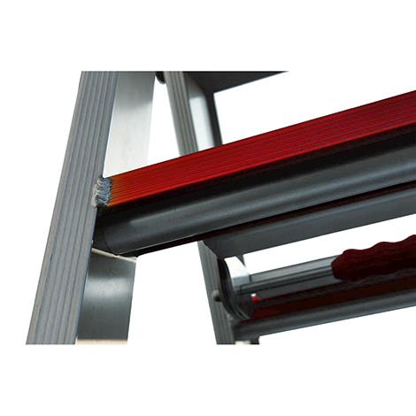 Stufen-Stehleiter Ameise ® mit eloxierter Plattform + Bügelablage