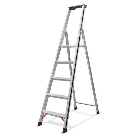 Stufen-Stehleiter HYMER Alu-Pro, 1-seitig begehbar
