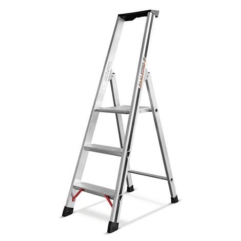 stufen stehleiter hymer alu pro 1 seitig begehbar jungheinrich profishop. Black Bedroom Furniture Sets. Home Design Ideas