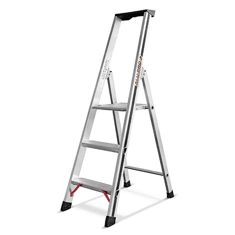 stufen stehleiter hymer alu pro einseitig begehbar 3. Black Bedroom Furniture Sets. Home Design Ideas