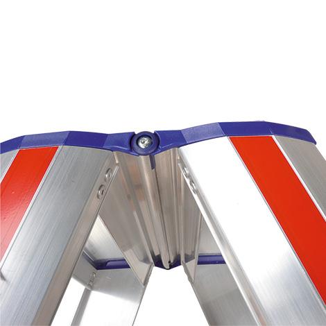 Stufen-Stehleiter HYMER ® Premium mit Plattform + Bügel. Einseitig besteigbar