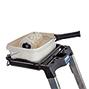 Stufen-Stehleiter KRAUSE ® aus Aluminium. Einseitig, Ablageschale