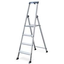 Stufen-Stehleiter KRAUSE®, hochfest gebördelt aus Aluminium