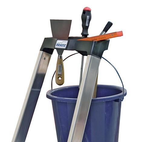 stufen stehleiter krause hochfest geb rdelt aus aluminium jungheinrich profishop. Black Bedroom Furniture Sets. Home Design Ideas
