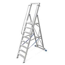 Stufen-Stehleiter KRAUSE ® mit großer Standplattform. Einseitig besteigbar