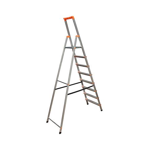 Stufen-Stehleiter KRAUSE ® mit Plattform, Kleinteileschale + Eimerhaken