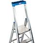 Stufen-Stehleiter KRAUSE ® mit Plattform und Bügel. Einseitig besteigbar