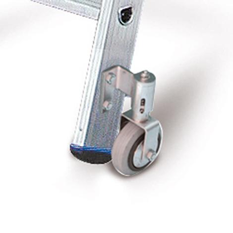 Stufen-Stehleiter KRAUSE ® mit Rollen. Beidseitig besteigbar